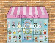 Belle's Fleurs Flower Shop Backdrop DIY Photography Cake Smash Photography, Photography Ideas, Wedding Photography, Diy Backdrop, Backdrops, Smash Cake Girl, Selling Handmade Items, Beautiful Baby Shower, Small Shops