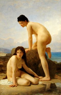 """""""The Bathers"""" by artist William-Adolphe Bougereau"""