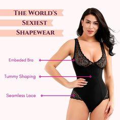 Summer | Core Control Fit Sculpting Lace Bodysuit On Sale | Femcodes.com Best Underwear, White Burgundy, Lace Decor, Women's Shapewear, Love Handles, Lace Bodysuit, Easy Wear, Stylish Dresses, Sculpting