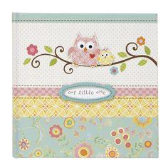 Happi Baby Girl Owl Motif Slim Bound Photo Journal Album Keepsake Memory Book #CRGibson