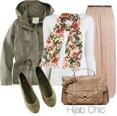 """""""Hijab Chic Outfit #1"""" by fashion4arab ❤ liked on Polyvore"""