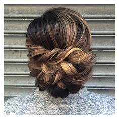 pretty twisted bun   Hair and beauty   Pinterest ❤ liked on Polyvore featuring beauty products, haircare, hair styling tools and hair
