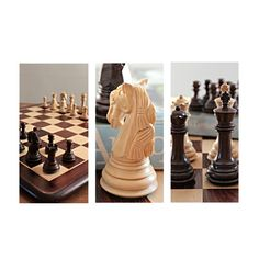A wonderfully styled wooden chess set. With Staunton beauty evident in each chess piece. M2054. Handcrafted by skilled craftspeople. Made to last. Brought to you by ChessBaron.co.uk