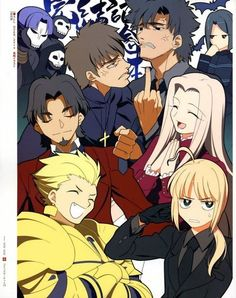 Fate/Zero: Team Tohsaka verus Team Einzbern. This is accurate :)