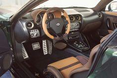 Alfa Romeo Disco Volante by Carrozzeria Touring Superleggera in green & gold