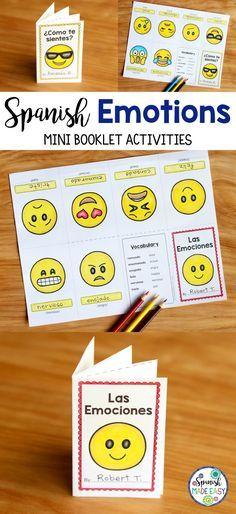Spanish Emotions mini booklet activities.
