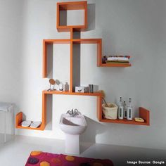 Interesting artifacts in trendy shapes can make amazing décors for your bathroom.
