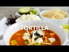 Cómo hacer sopa de tortilla o sopa Azteca (fácil & rápida)