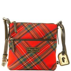 Dooney & Bourke is my fave anyway, but I especially love their red tartan fabric for A/W!\Have a slightly older style in this fabric and i love it-it is so stylish. Mode Tartan, Tartan Kilt, Scottish Plaid, Scottish Tartans, Harris Tweed, My Bags, Purses And Bags, Tartan Fashion, Tartan Fabric