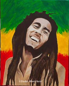 Bob Marley Painting - Acrylic on canvas original sold. High quality giclee prints for sale