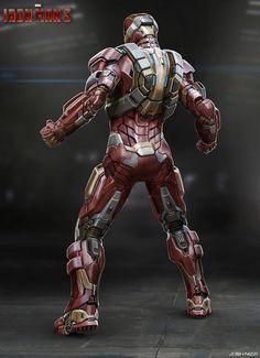 Concept art de Iron Man 3 (2013) por Josh Nizzi