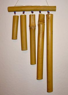 Shipping Furniture To Hawaii Wooden Wind Chimes, Bamboo Wind Chimes, Diy Wind Chimes, Bamboo Art, Bamboo Crafts, Wood Crafts, Diy Craft Projects, Wood Projects, Wood Pergola