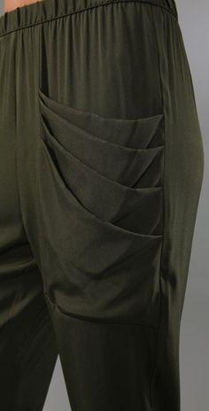 Loeffler Randall: Silk  Draped Pocket Pants. http://cdnb.lystit.com/photos/2010/12/13/loeffler-randall-army-draped-pocket-pants-green-product-3-135814-451285444.jpeg http://cdnd.lystit.com/photos/2010/12/13/loeffler-randall-army-draped-pocket-pants-green-product-4-135814-451358338.jpeg http://cdnd.lystit.com/photos/2010/12/13/loeffler-randall-army-draped-pocket-pants-green-product-5-135814-451447127.jpeg