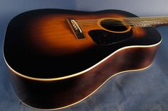 1940s Gibson J-45 acoustic guitar.