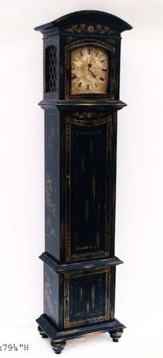 Image detail for -view large photo of hand painted grandfather clock