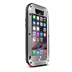 """Love Mei Shockproof Waterproof Dust/Dirt/Snow Proof Aluminum Metal Gorilla Glass Protection Case Cover for Apple iPhone 6 Plus 5.5"""" Silver (702215690501) 100% Brand New &Perfectly fits Made of high-quality material. waterproof & Shockproof & Dustproof Fashion design, easy to put on and easy to take off. Protect your phone from dust, scratching and shock."""