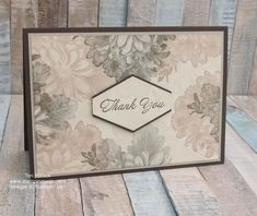 Heartfelt Blooms by Stampin Up. Created by UK Independent Demonstrator Teri Pocock. Click through for more details. Flower Stamp, Flower Cards, Stampin Up Karten, Origami, Stamping Up Cards, Rubber Stamping, Stampinup, Cards For Friends, Friend Cards