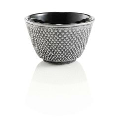 Teavana Hobnail Cast Iron Tea Cup: These cast iron cups feature a traditional Japanese hobnail design, which symbolizes strength. Painted on the outside and enameled on the inside.