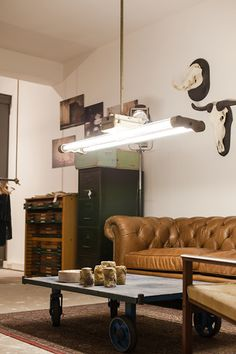Moose | Large Industrial Double Tube Fluorescent Light