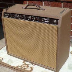 1963 Fender Deluxe amp Fender Stratocaster, Fender Guitar Amps, Fender Vintage, Vintage Guitars, Princeton Reverb, Leo Fender, Fender Deluxe, Guitar Collection, Cool Gear