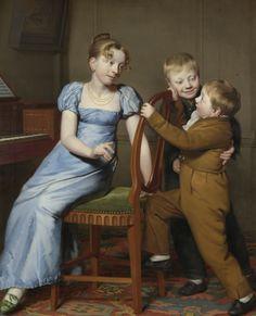 Piano Practice Interrupted by Willem Bartel van der Kooi, Rijksmuseum, Public Domain