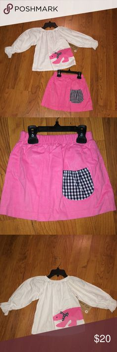 HANNAH KATE NEW HANNAH KATE SKIRT WITH MATCHING SHIRT SIZE: 4 ***shirt has a spot on sleeve from storage. Will come out in wash*** Hannah Kat Matching Sets