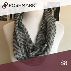 Lightweight chevron infinity scarf Excellent condition. Bin A Accessories Scarves & Wraps