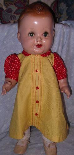 "Baby Sandy child star 17"" all Composition doll by Freundlich"