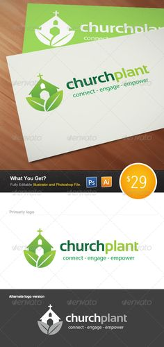 Church Plant Logo — Photoshop PSD #start-up #plant • Available here → https://graphicriver.net/item/church-plant-logo/4833386?ref=pxcr