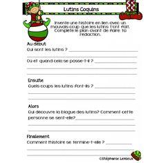 Écriture de Noël - Récit Christmas Art Projects, Teaching, Activities, French, 3d, Christmas Scripture, Outer Space, Speech Language Therapy, Language