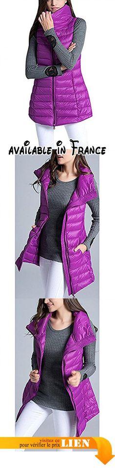 B075SYX7SP : Greaten - Blouson - Femme - violet - Medium.