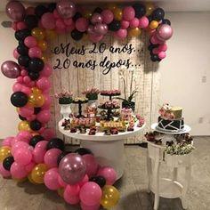 Festa de aniversario Diy Crafts For Home easy diy crafts for home Paris Birthday Parties, 50th Party, 40th Birthday, Happy Birthday, Diy Home Crafts, Easy Diy Crafts, 40 And Fabulous, Barbie Party, Birthday Party Decorations
