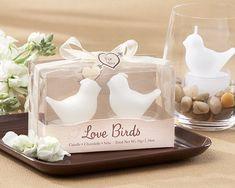"""""""Love Birds"""" White Bird Tea Light Candles http://www.weddingfavorsmarket.com/love-birds-white-bird-tea-light-candles.html"""