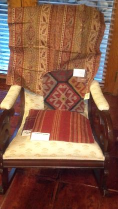 "Another Victorian ""grandma"" chair soon to bite the dust with a Ralph Lauren/Eric Cohler make-over. By-bye Mrs. Frump!"