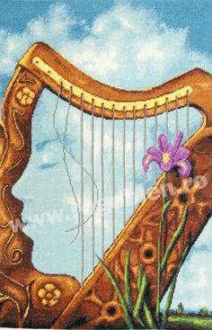 Cod produs Femeia harpa Culori: 25 Dimensiune: 20 x Pret: lei Needlepoint, Cod, Faces, Letters, Embroidery, Cod Fish, The Face, Letter, Needlework