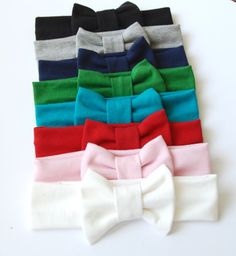 Thin bow headband in multiple colors by MooseandHippodesigns