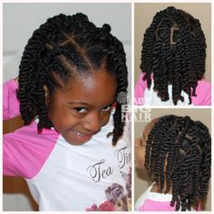 Twist Hairstyles For Kids Magnificent Flat Twist With Side Bang With Two Strand Twist Hanging In The Back