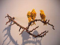 Shawn Smith Pixel Sculptures - Serinus Canaria
