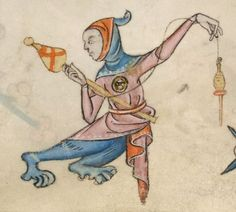 Detail from The Luttrell Psalter, British Library Add MS 42130 (medieval manuscript,1325-1340), f30v