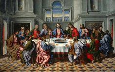 Girolamo da Santacroce - Das heilige Abendmahl