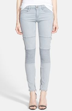Paige Denim 'Demi' Ultra Skinny Jeans (Montauk Grey) available at #Nordstrom