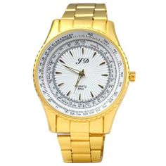 FD 6952 Male Quartz Watch Steel Band Round Dial #jewelry, #women, #men, #hats, #watches, #belts, #fashion
