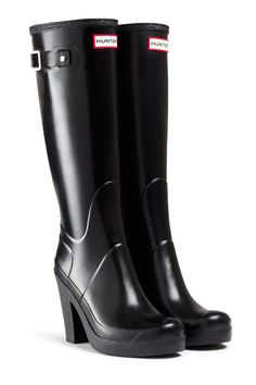 Hunter Wellington Heels They don't seem to sell these anymore, but I would love to get a pair. #hunter #black