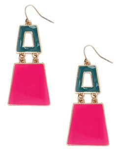The Sixties are back! And so are vivid geometrics, if the spring runways are any indication. Which makes these hot pink earrings an absolute must-buy in our book.  This is part of the BaubleBar + Nina Garcia Collection