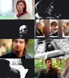 the taxman cometh. Marian, Will, Much, Sherrif Robin Hood and Much, Guy of Gisborne, Sherrif, Marian and her father, Alan A Dale.