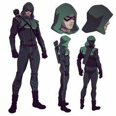 Green Arrow model sheet by Phil Bourassa