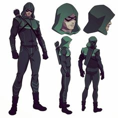 Arrow model sheet from the Vixen animated shorts on CW seed.