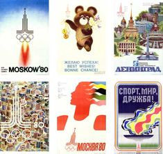 1980 Moscow Posters  In 1974, Moscow beat Los Angeles 39 votes to 20 to earn the honour of hosting the 1980 Summer Games, becoming the first communist country to do so. That honour was to be impacted by a US-led boycott of the Games, which left 62 members of the Olympic movement absent from the Russian capital. Regardless of the boycott, the Games went ahead, and the Moscow organisers made sure there were plenty of poster designs in order to let people know.