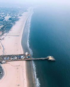 The Pacific At Santa Monica Beach. #losangelesaerial #copterpilot #lostinla #venice By @erwnchow (at Santa Monica, California)