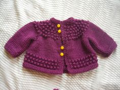 Ravelry: Project Gallery for Quick Baby Sweater pattern by Lorraine J Major